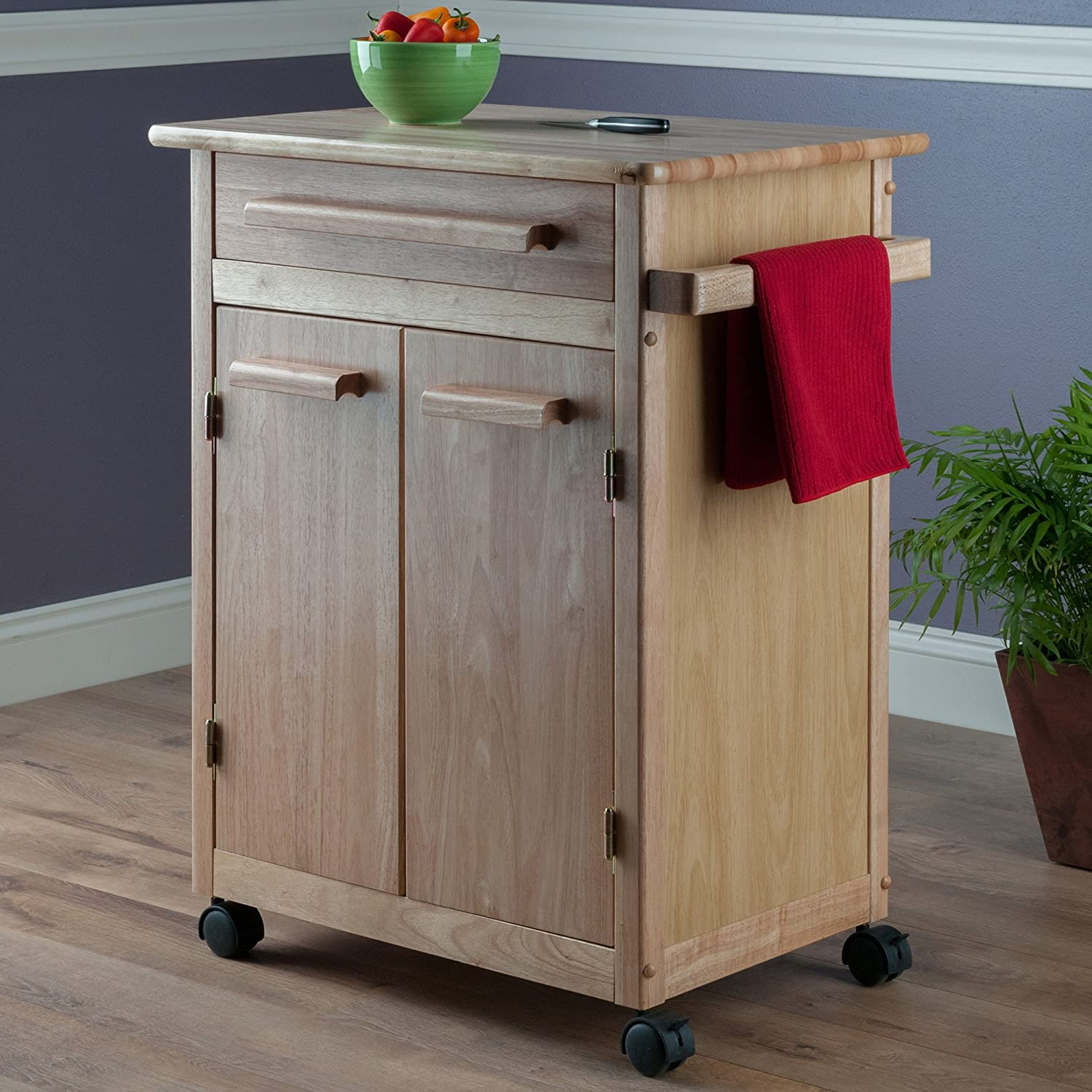 Winsome Wood Single Drawer Kitchen Cabinet