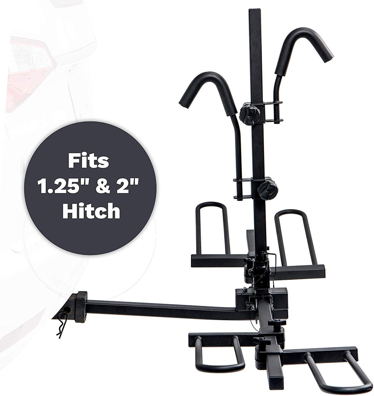 "KAC E2 1.25"" and 2"" Hitch Receiver Mount Bike Rack"