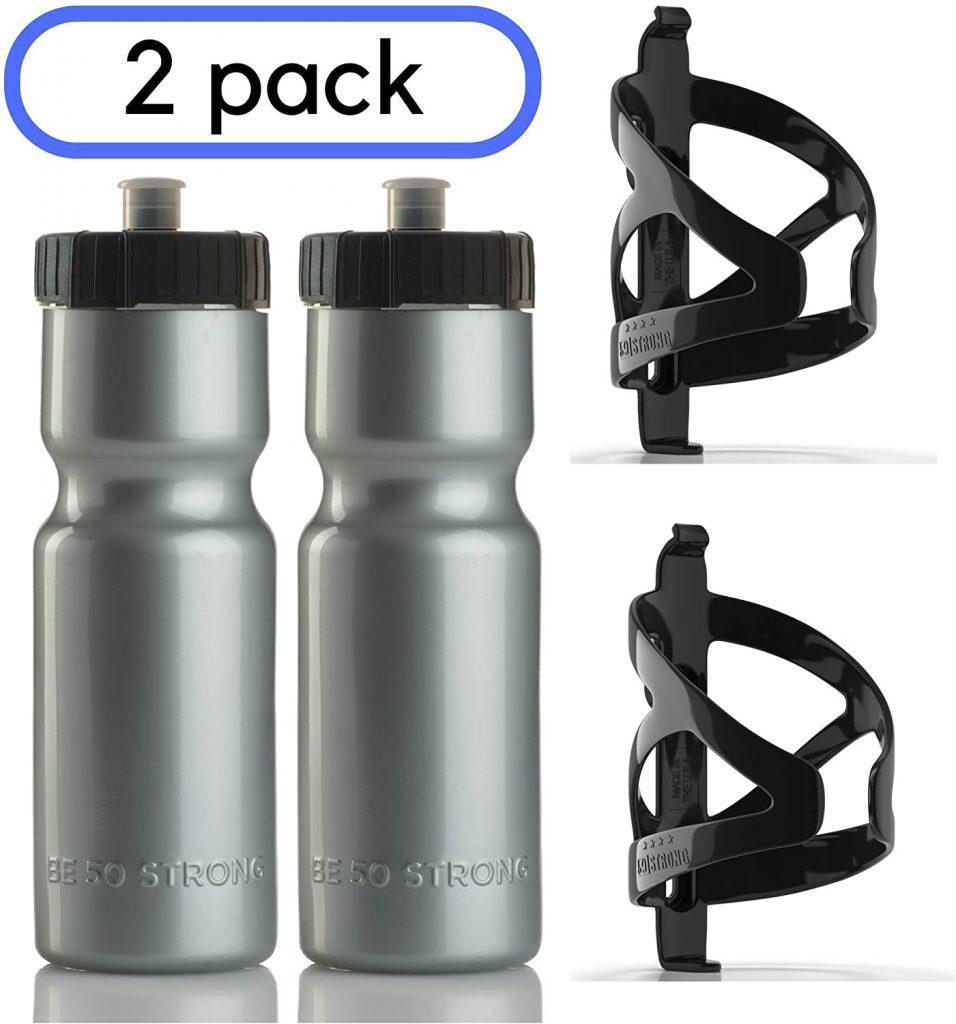 50 Strong Bike Bottle Holder with Water Bottle
