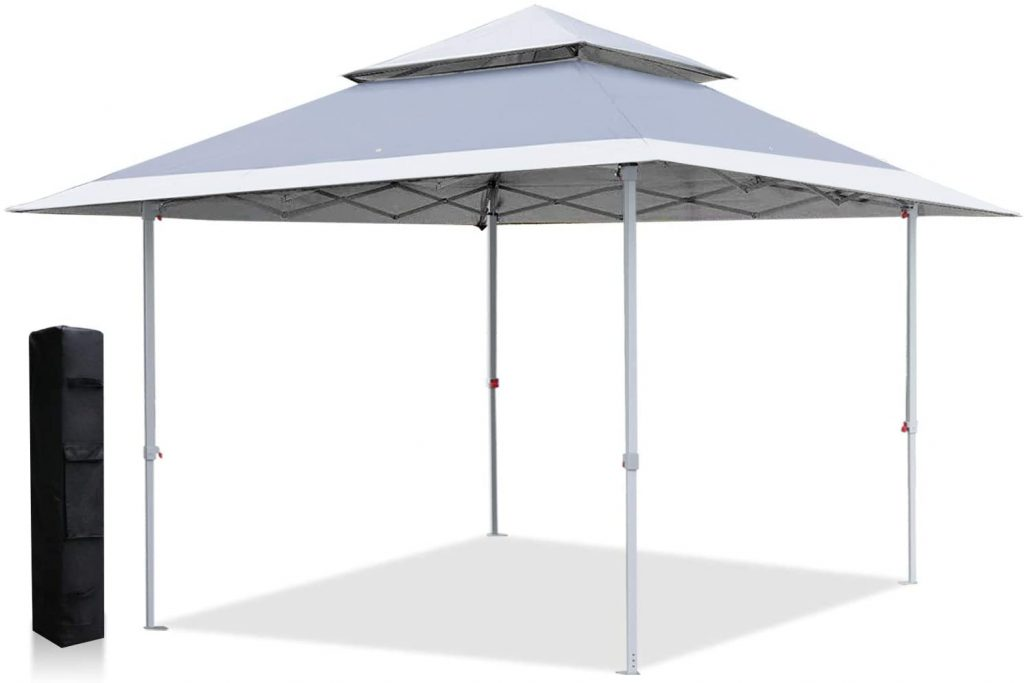 ABCCANOPY 13x13 Canopy Tent Instant Shelter Pop Up Canopy 169 sq.ft Outdoor Sun Shade, Gray