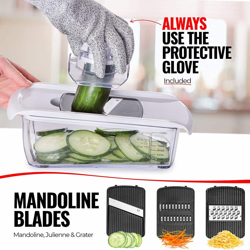 Fullstar Vegetable Chopper Dicer Mandoline Vegetable Slicer - Onion Chopper Salad Chopper Veggie Chopper Vegetable Cutter Food Slicer 11 Blades
