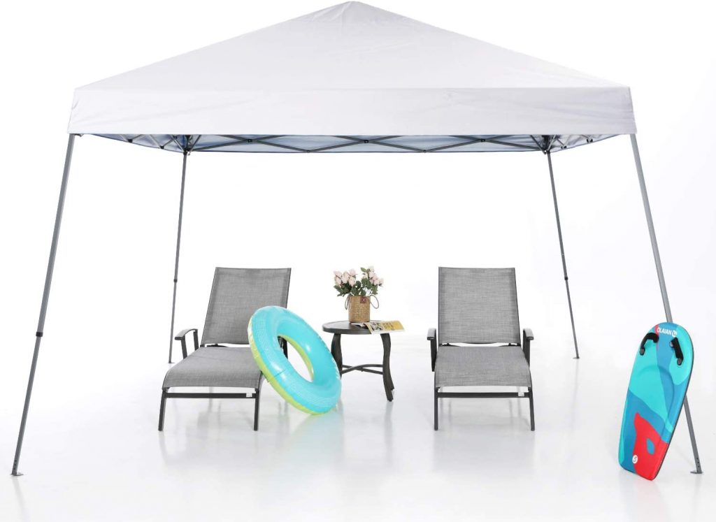 MASTERCANOPY Pop-up Instant Shelter Canopy Tent, Beach and Portable Canopy with a Large Space Base for Party, Hiking, Camping, Fishing, Picnic and Other Outdoor Activities (White)