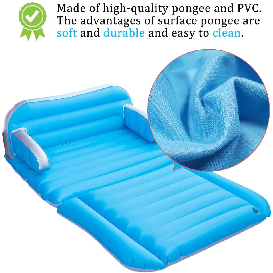 QDH SUV Air mattress Upgraded Double-Sided Thickened Camping Couch Portable with Electric Pump Home Air Sofa Bed