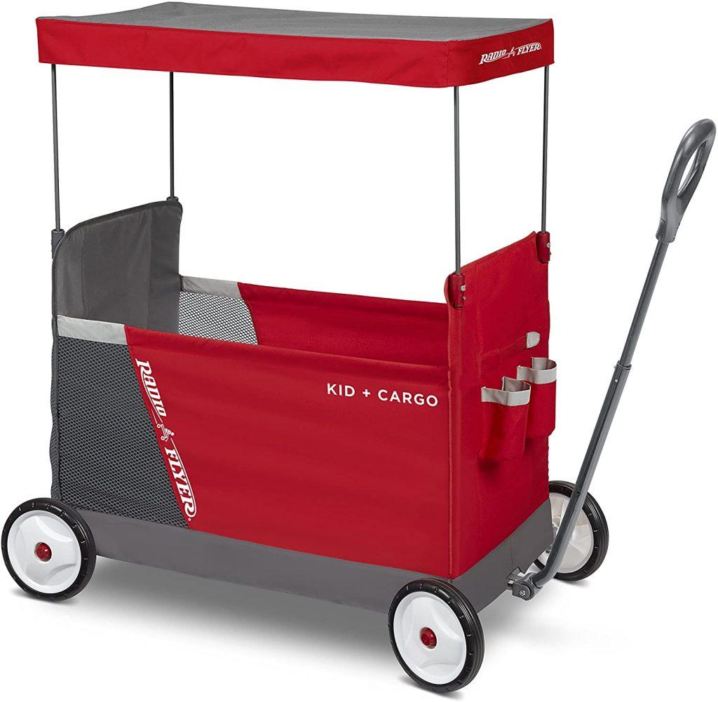 Radio Flyer Kid & Cargo with Canopy, Folding Wagon with 2 Versatile Seats, (Amazon Exclusive) (3965Z)