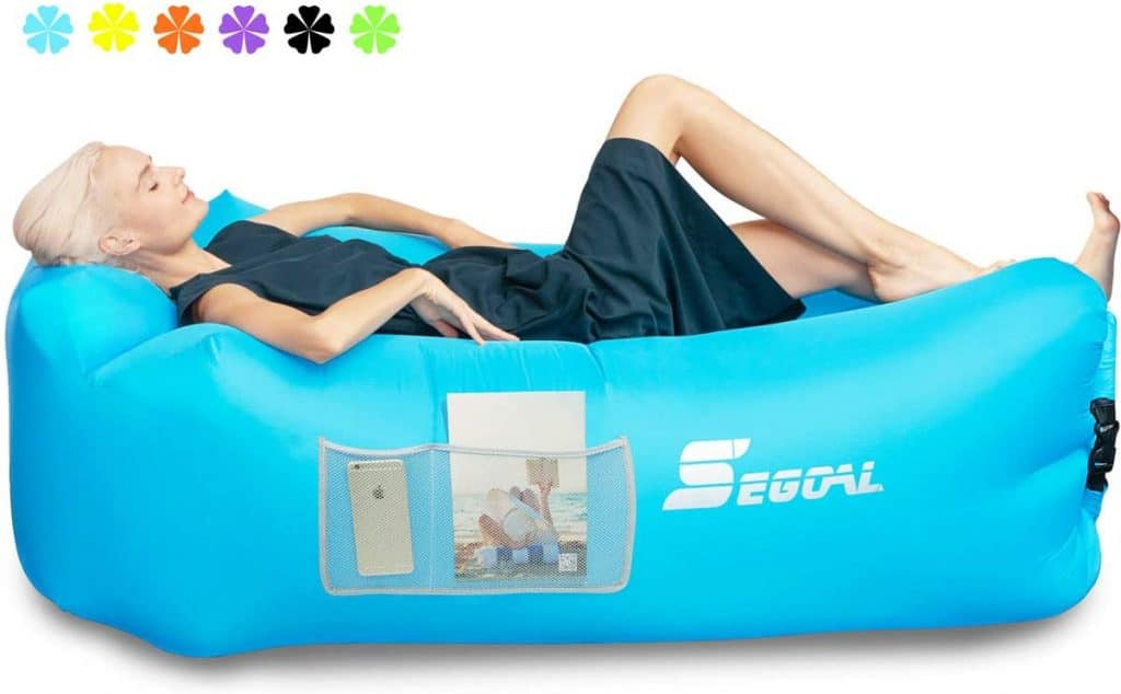 SEGOAL Inflatable Lounger Air Sofa Couch Anti-Air Leaking for Indoor/Outdoor, Camping, Traveling, Couch for Picnic Backyard Lakeside