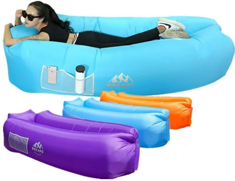 Wekapo Inflatable Lounger Air Sofa Hammock- Design-Ideal Couch for Backyard Lakeside Beach Traveling Camping Picnics & Music Festivals Camping Compression Sacks