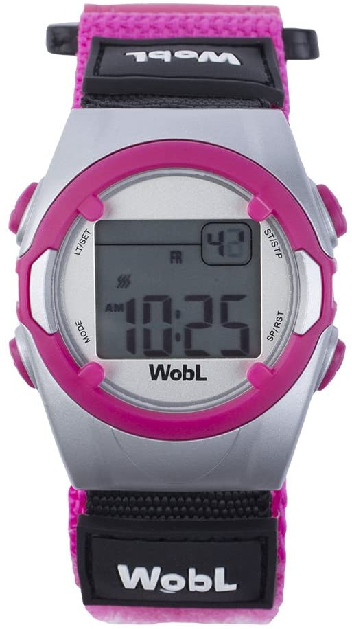 WobL Vibrating 8-Alarm & Repeating Countdown Timer Watch for Kids & Adults