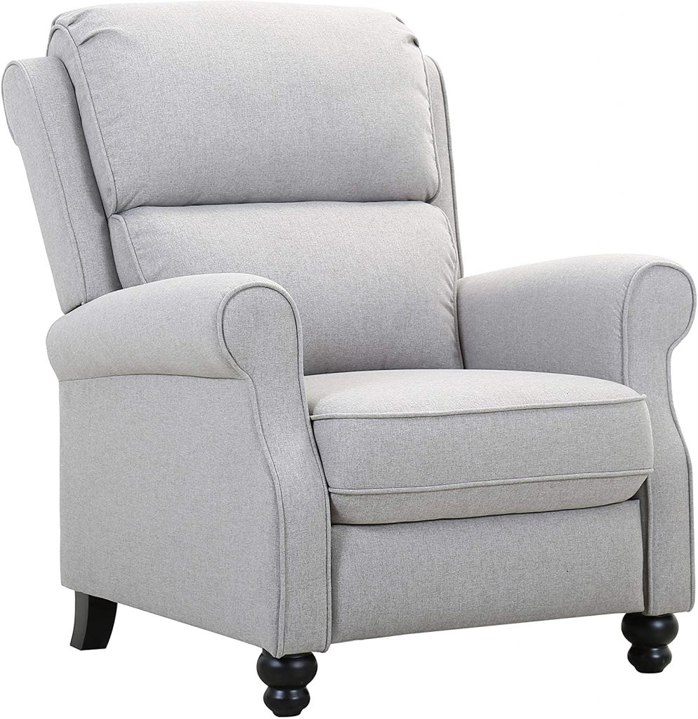 Amazon Brand – Ravenna Home Push-Back Recliner Living Room Chair