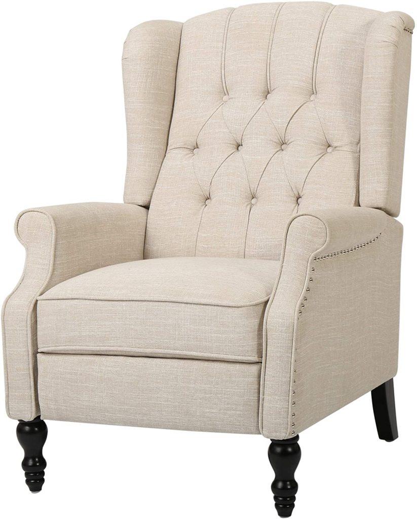 GDF Studio Elizabeth Tufted Fabric Recliner Chair