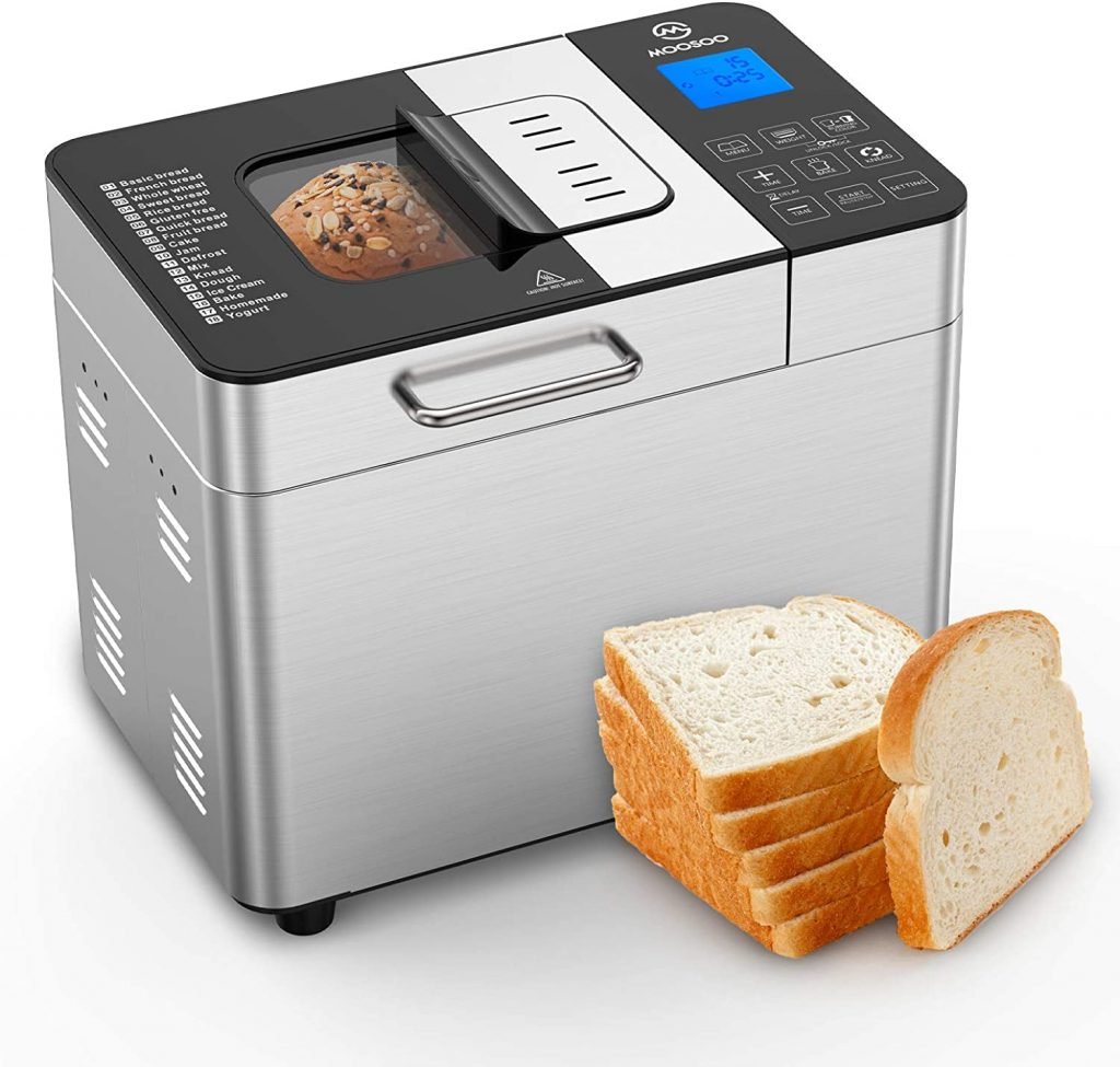MOOSOO Bread Maker with Automatic Fruit Dispenser