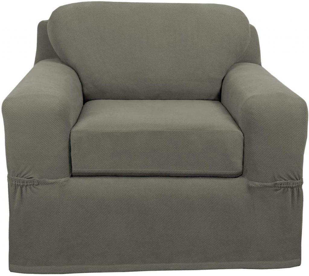 Maytex Pixel Ultra Soft Stretch 2 Piece Arm Chair Furniture Cover