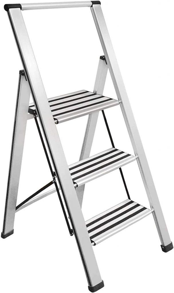 Sorfey Aluminum Folding 3 Step Ladder