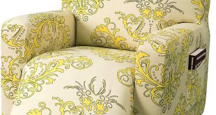TIKAMI Recliner Slipcovers Stretch Printed Chair Covers