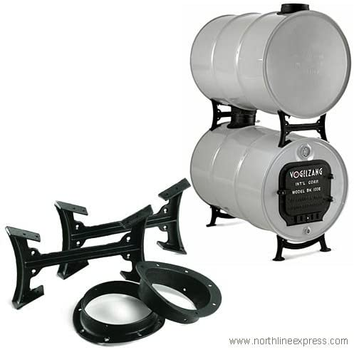 U.S. Stove Company BK50E Double Barrel Stove Kit