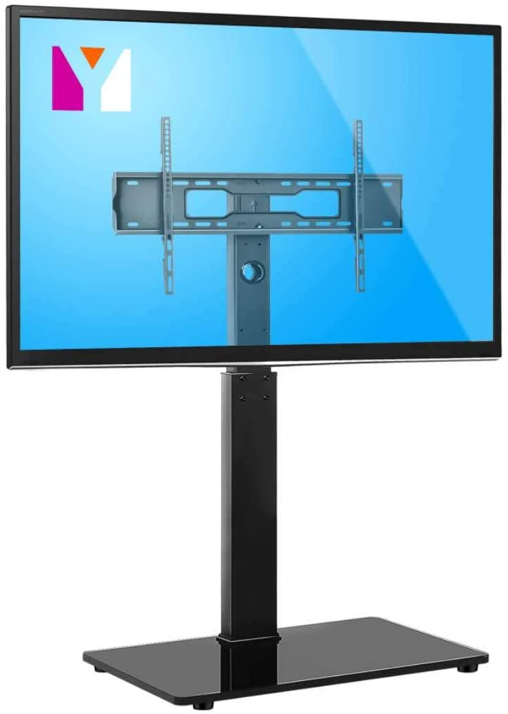 YOMT Universal Floor TV Stand Base with Swivel Mount